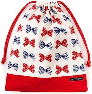 布袋·大 体操服袋 体操服袋 波尔卡圆点和条纹的法式丝带(象牙色) N3374300