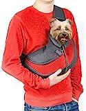 Cuddlissimo! 宠物吊带背带 - 小狗猫吊带宠物背袋*可反穿舒适可机洗可调节小袋单肩手提包,适用于 6 磅以下…