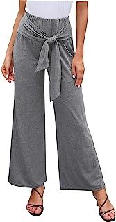 女式休闲高腰阔腿裤夏季沙滩裤长裤