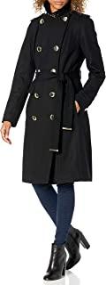 Calvin Klein 女式双排扣带羊毛大衣