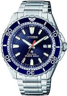 Citizen 西铁城 模拟太阳能手表 男士手表 带不锈钢表链 BN0191-80L,银色,One Size