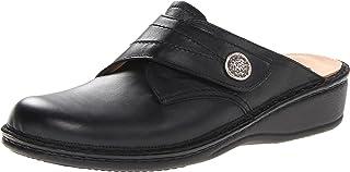 Finn Comfort 女士 Santa Fe 穆勒鞋 黑色//白色 12-12.5