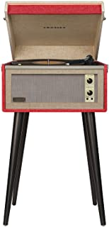 Crosley CR6233D-RE Dansette Bermuda Portable Turntable with Aux-In and Bluetooth, Red