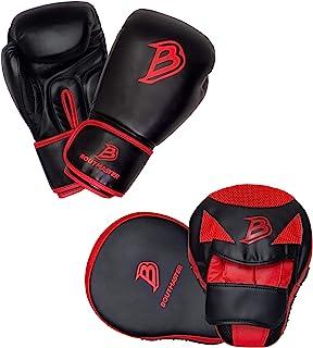 Boutmaster 青年拳击训练套装,儿童或青少年拳击手套和拳击垫手套套装