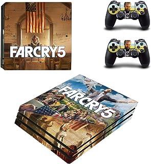 Adventure Games PS4 PRO - Far Cry 5 - Playstation 4 乙烯基控制台皮肤贴花贴纸 + 2 个控制器外壳套装