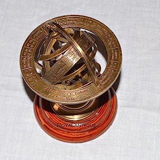 珍藏版航海黄铜球形星座望远镜*地球仪装饰复古 A