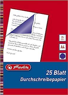 Herlitz 10303725 复写纸 适合带孔打字机,A4大小,25张,黑色 Durchschreibepapier