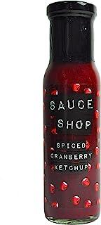 酱汁店-五香蔓越莓番茄酱-圣诞晚餐的完美酱料,放养填料,无麸质素食酱,1 x 255g