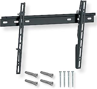 NANOOK 可倾斜电视壁挂支架,适用于 32-55 英寸(81-140 厘米)电视 | 超薄支架 | 壁挂式适用于 LED、QLED 和 OLED 电视 | 通用兼容 | VESA 100x100 至 400x400 | 黑色
