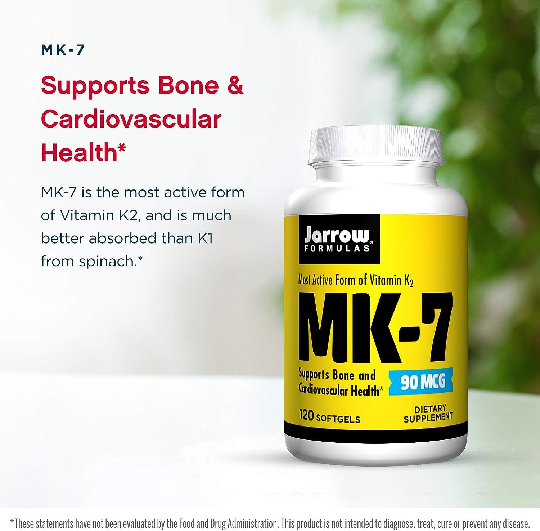 防骨质酥松,保护心血管:120粒 Jarrow Formulas杰诺 维生素K2/MK-7软胶囊