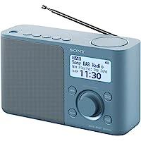 Sony 索尼 XDR-S61D 便携式数字收音机,FM/DAB/DAB+,电台存储,RDS功能,闹钟,电池和市电运行…