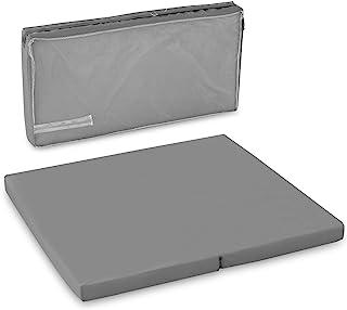 Hauck Sleeper SQ 旅行床/围栏床垫,90 x 90厘米,6厘米高,2件可折叠,包括运输袋 - 灰色