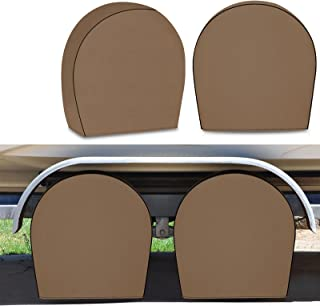 RVMasking 4 件*防水轮胎罩,重型 600D 牛津轮罩,防紫外线轮胎保护罩,适用于房车拖车露营车,适合29 英寸 - 32 英寸轮胎直径