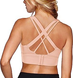 Snailify 女式高强度运动文胸交叉可调节露背性感跑步文胸
