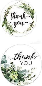 Nerseki Thank You 贴纸卷标签适用于牛皮纸家庭厨房 500 片(植物和花卉 2)