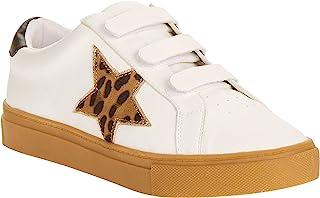 Wonder nation Star 休闲宫廷运动鞋白色豹纹星星 (5)