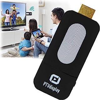 DDL 无线 镜像接收器 适配器 电缆 HDMA(A型)Wifi 连接 智能手机看电视的电缆 黑色 (iPhone、Android、iPad 可连接)