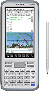 Casio 触摸屏,带手写笔图形计算器,4.8 (fx-CG500)