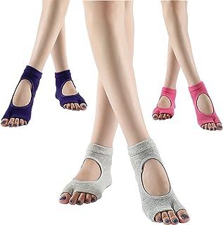 BigSalmon 3 双露趾防滑双趾袜双指袜瑜伽舞蹈普拉提女士袜