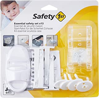 Safety 1st 3202002200 基本套装 *套装 由 4 个边缘保护 4 个抽屉保护 4 个欧式插座保险丝 / 1 个橱柜*装置 白色 112 克