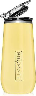 BrüMate 12盎司(约340.2毫升)绝缘香槟酒杯,带饮用盖 - 采用真空绝缘不锈钢制成 Daisy CF12Y