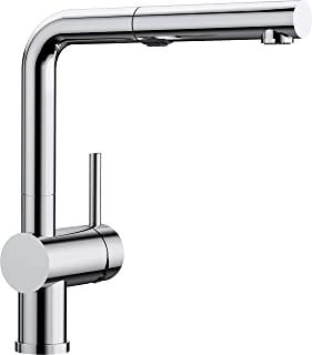 BLANCO 铂浪高 LINUS-S Vario 厨房水龙头 518406 带拉出式出水嘴,带开关功能,高压,镀铬