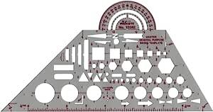 Pickett 等轴测六角螺母和头模板 7 Master General Purpose 灰色