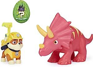 Paw Patrol 狗狗巡逻队 恐龙救援队 小砾和恐龙可动公仔套装 适合 3 岁及以上儿童