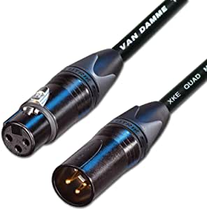 Designacable Van Damme STARQUAD 麦克风线 Neutrik Gold XLR on XLR)NC3FXXB-VDSQBK0200-NC3MXXB  2 m