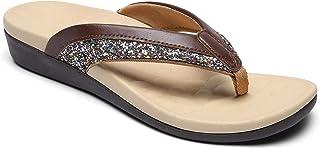Sounity 矫正人字拖女士凉鞋,足底*矫正人字拖,带足弓支撑,适用于平脚,舒适步行鞋缓解脚跟和脚痛