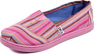TOMS 经典粉色文化条纹