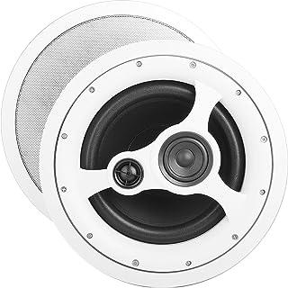 OSD Audio 10英寸(约25.4厘米)天花板扬声器 – 150W 立体声系统,旋转高音扬声器,ICE1080HD
