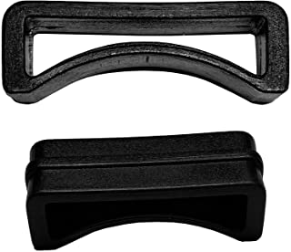 基本皮带环 2.54 厘米黑色塑料,带扣、皮带、肩带、行李袋、包 (10)