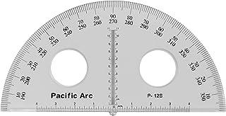 Pacific Arc's 12 英寸塑料量角透明尺子