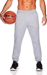 AND1 男士针织慢跑裤 - 篮球跑步和慢跑运动裤带口袋