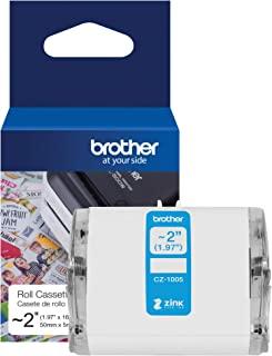 Brother Genuine CZ-1005 连续长度 ~ 2(1.9 英寸)50 毫米宽 x 1.8 英尺长标签卷,采用ZINK Zero Ink 技术