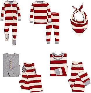 Burt's Bees 小蜜蜂 婴儿女童家庭睡衣,配套假日睡衣,*棉睡衣