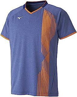 [Mizuno 美津浓] 羽毛球服 运动衫 短袖 标准 动作贴合 吸汗速干 软式网球 羽毛球 72MA9007