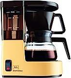 Melitta 小型滴滤咖啡机 Aromaboy 1015-03 配有玻璃咖啡壶 米色/棕色