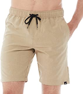 DINOGREY 男式健身跑步短裤速干四向弹力运动短裤训练运动短裤,带拉链口袋