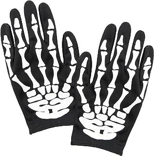 Widmann 34276 – 骷髅手套,适用于成人,骨头,万圣节,狂欢节,主题派对