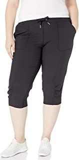 Calvin Klein 女式优质性能罗纹翻边七分裤(标准和加大)