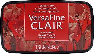 Tsukineko Tulip Versafine 天堂印台,合成材料,红色,5.6 x 9.7 x 2.3 厘米