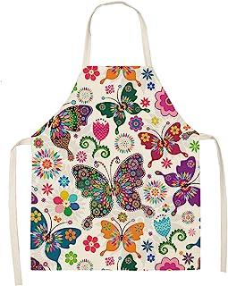 Zaitun 烹饪围裙可爱厨师围裙女士男士厨房围裙趣味棉质围裙烘焙园艺礼品