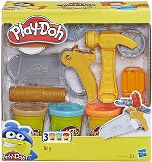 Play-Doh 培乐多 小型车间玩具套装 适用于儿童 3 种颜色 黏土