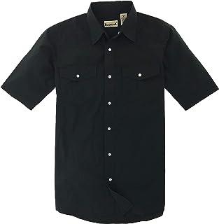 Backpacker BP-7053 男式短袖纯色西式,黑色,3XL 码