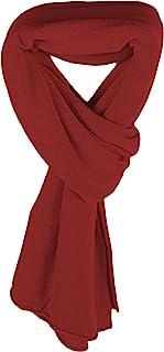 Love Cashmere 女士 * 羊绒围巾 - 红色 - 苏格兰手工制作 RRP 350 美元