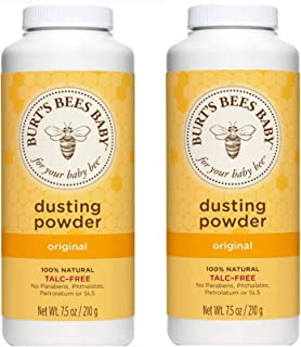 Burt's Bees 小蜜蜂 婴儿爽身粉奶瓶,7.5 盎司(约 212.6 克)瓶装(2 瓶装)新老包装更替
