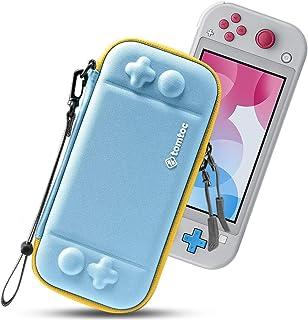 tomtoc 超薄便携保护套适用于 Nintendo Switch Lite ,保护性便携式携带保护套带[原创*],旅行存储硬壳,带 8 个游戏盒和军事级保护