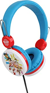 Paw Patrol 狗狗巡逻队 头戴式耳机 HP1-01057   软垫耳塞,适合任何尺寸,可调节头带耳机,声音大,音量限制技术(粉色)